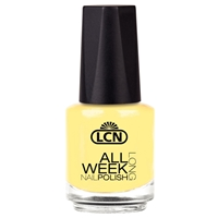 All Week Long - life hands you a lemon - make lemonade! nail polish, extended wear polish, top coats, nails, nail art