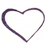 Body Glitter Form-Heart 5pc