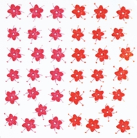 Nail Art Stickers - Pink/Red flowers