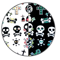 Nail Art Stickers-skull/crossb