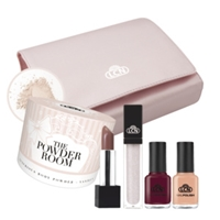 "Makeup Set ""The Powder Room"" powder room, body powder, lipgloss, lipstick, stocking stuffer, nail polish, gift set, makeup, european"